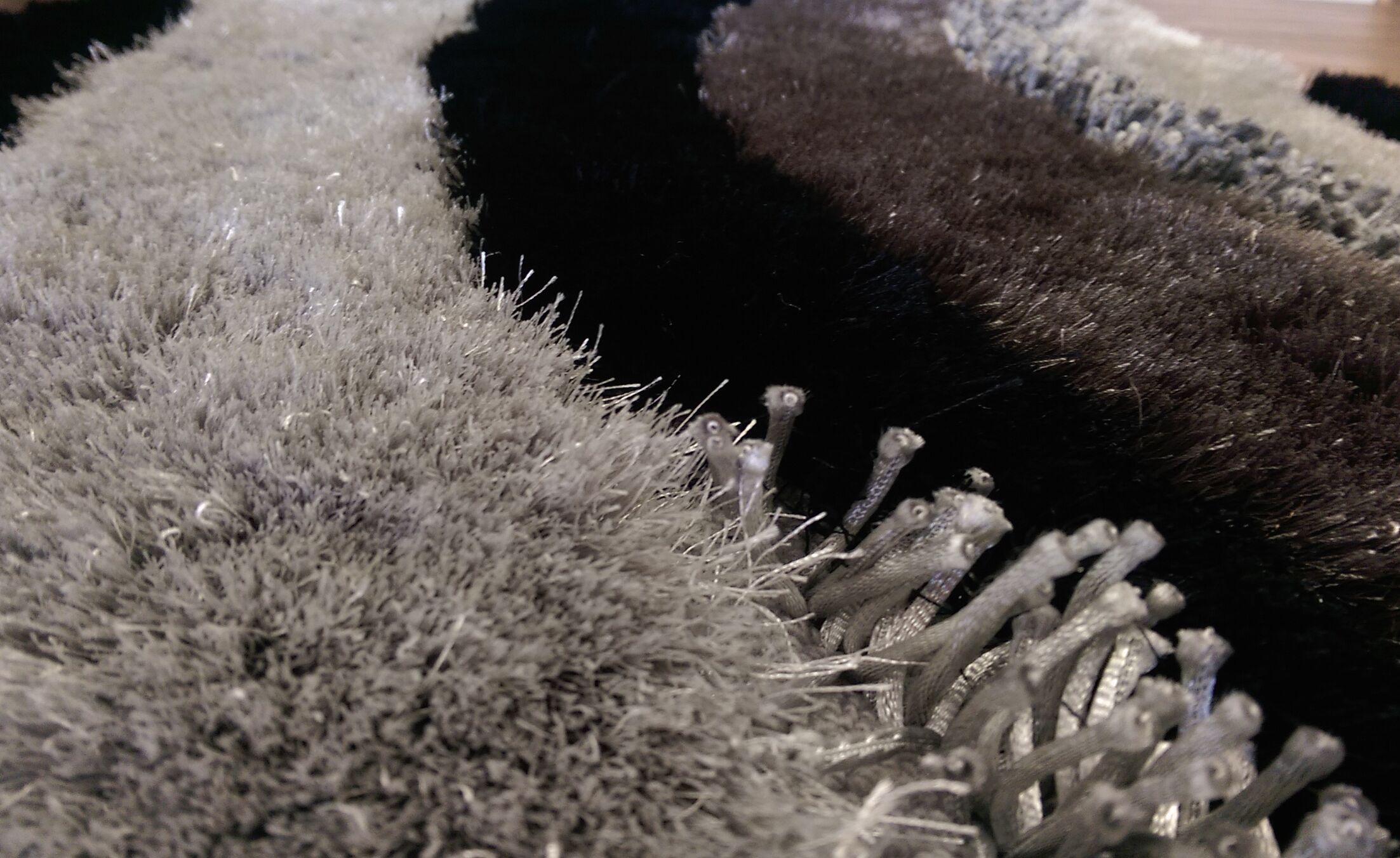 Ilsa Handmade Shag Gray/Black/Taupe Area Rug
