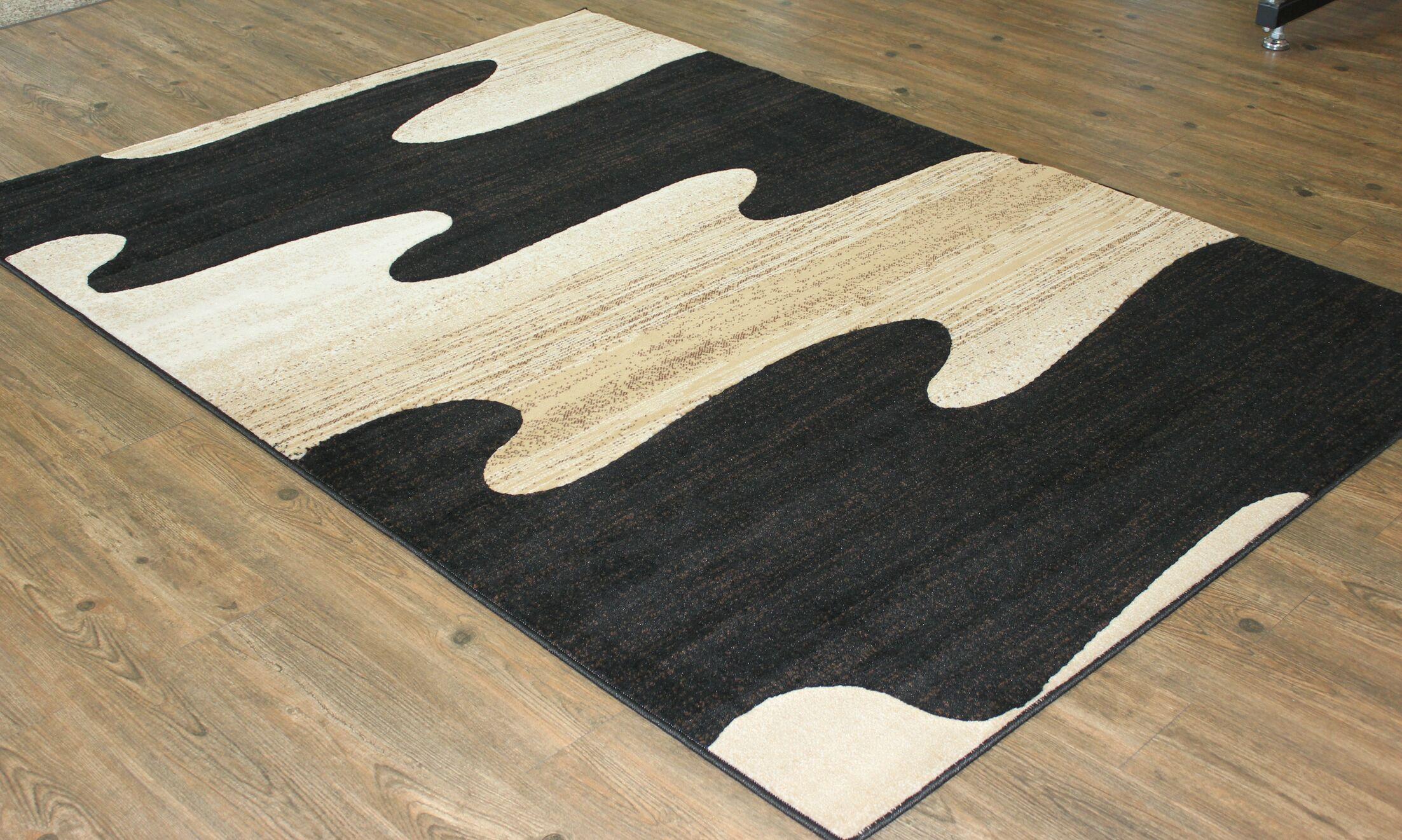 Berrier Black/Beige Area Rug