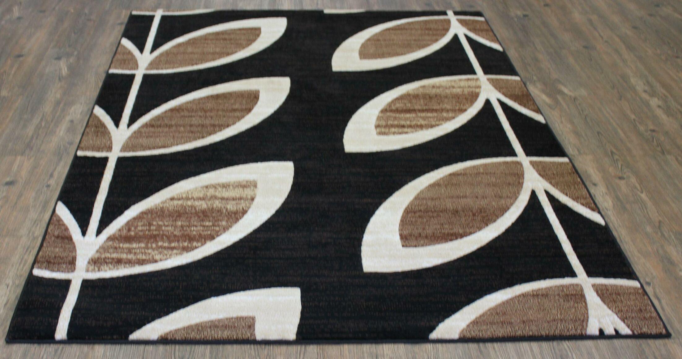 LifeStyle Black/Beige Area Rug