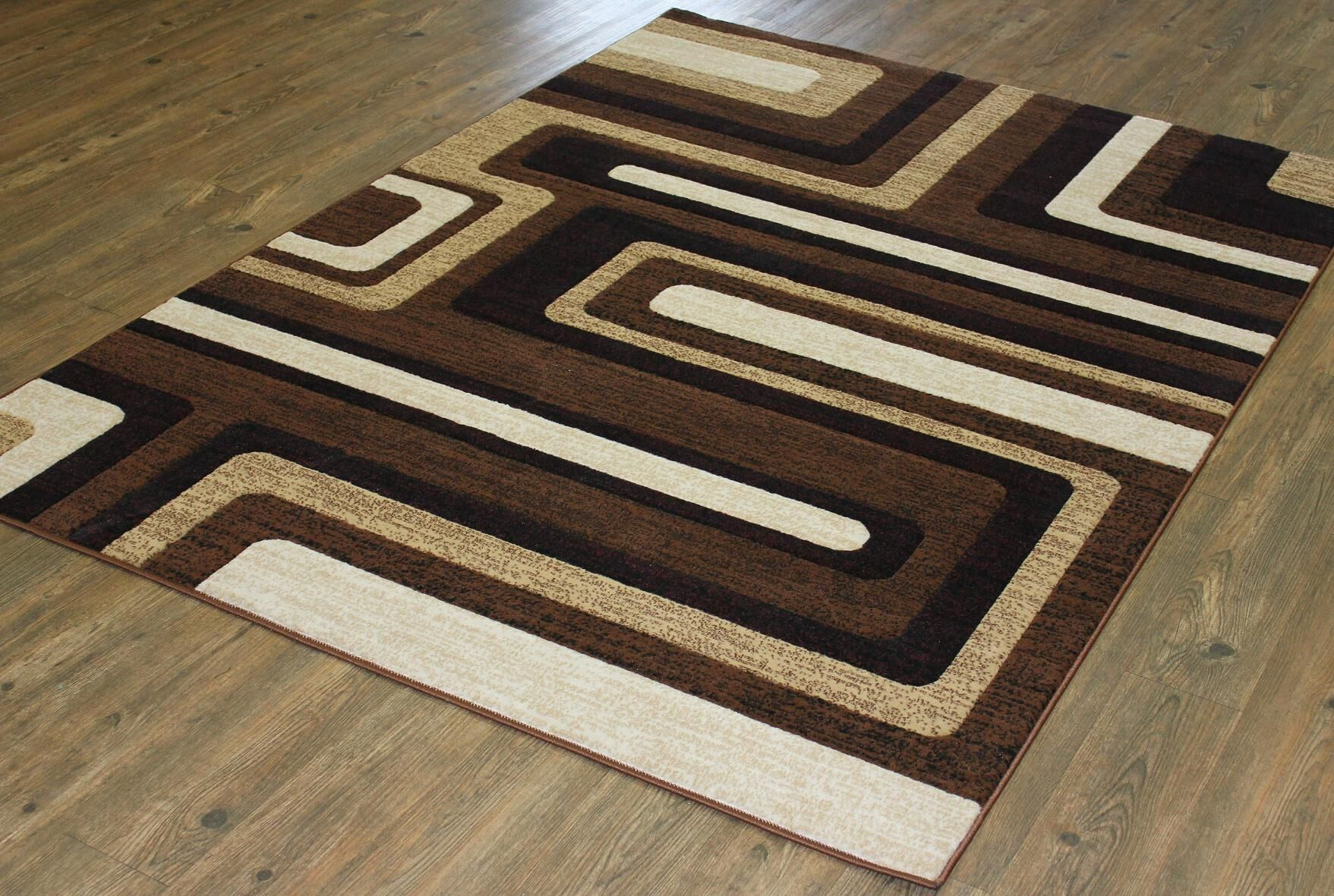 Quinten Brown/Black/Ivory Area Rug