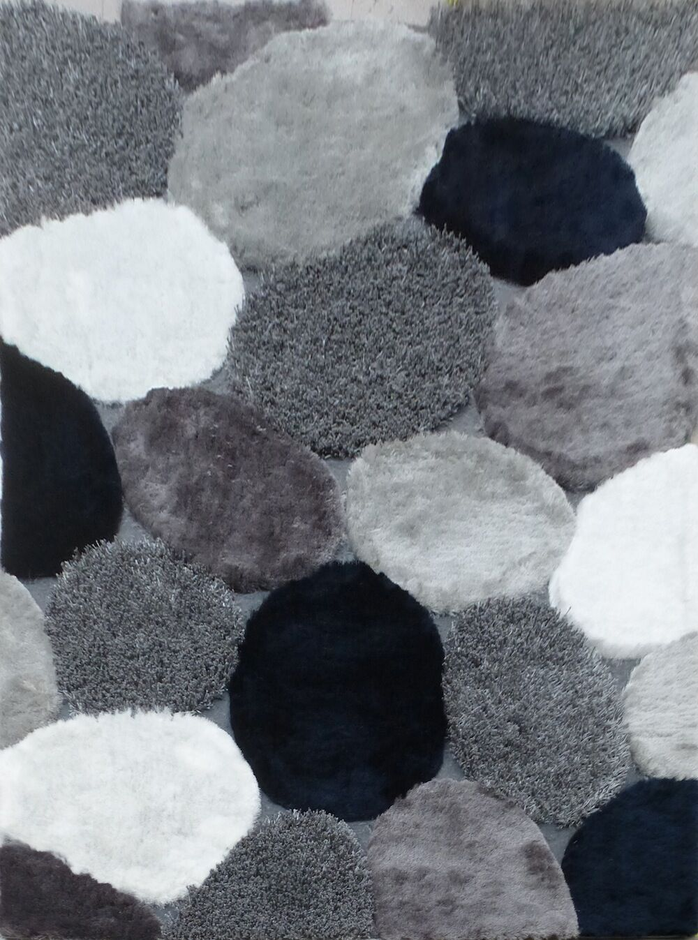 Claytor Modern Hand-Tufted Gray Indoor Area Rug Rug Size: Rectangle 5' x 7'
