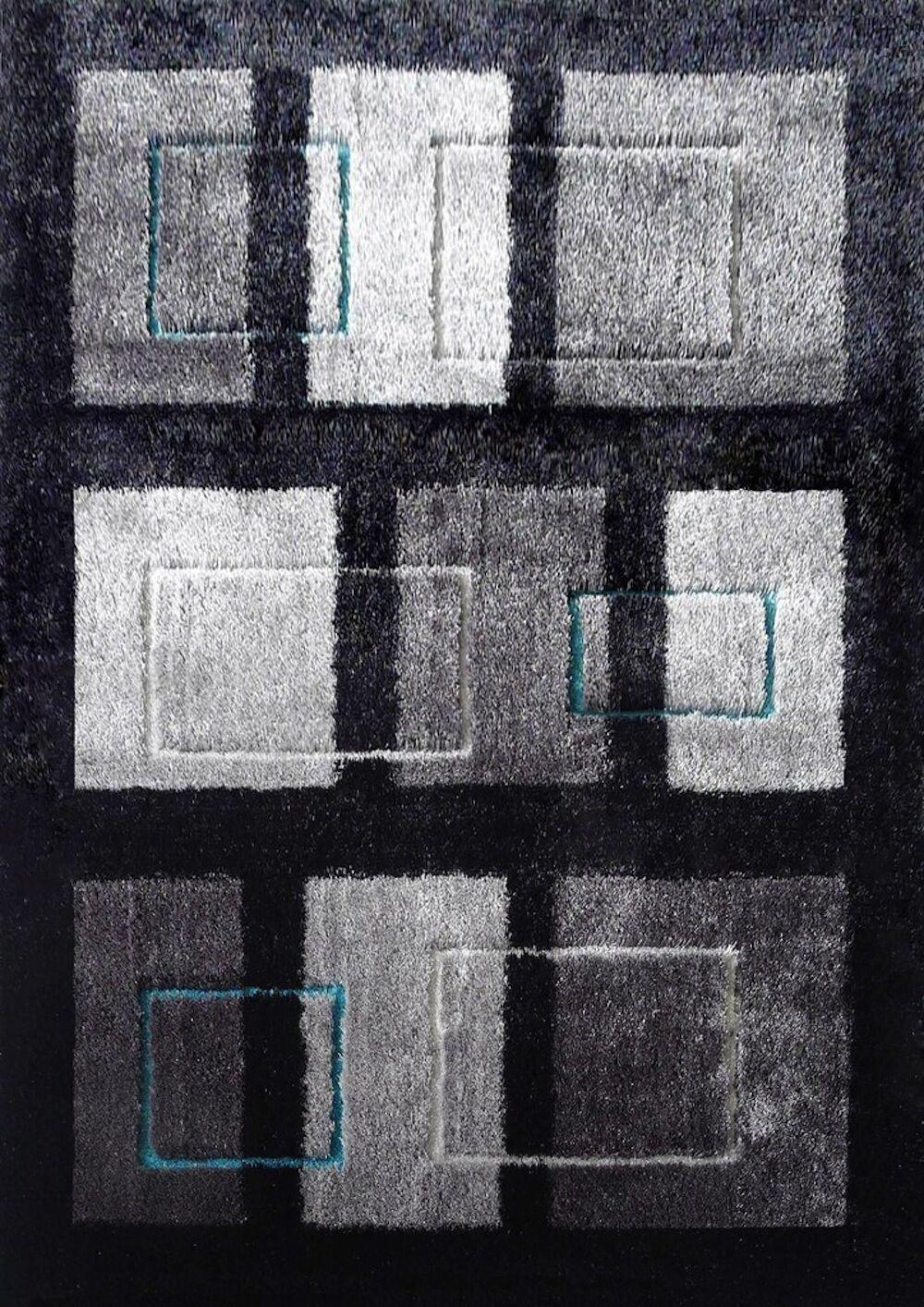 Sangiacomo Hand-Tufted Black/Gray Area Rug