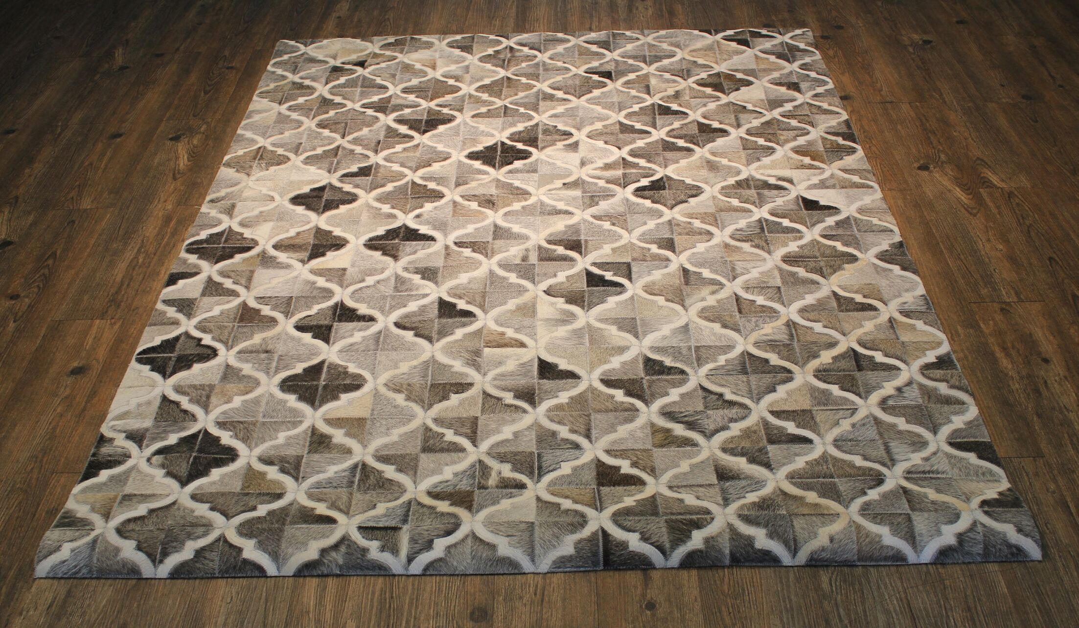 Knopf Hand-Woven Cowhide Brown/Beige Area Rug