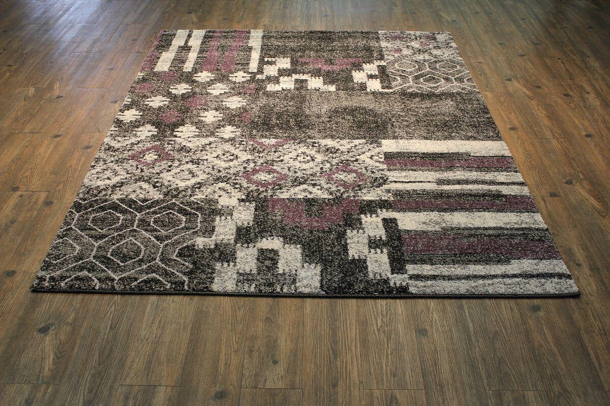 Garceau Black/Purple Area Rug Rug Size: Rectangle 10'6