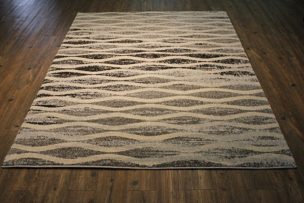 Andrew Gray/Beige Area Rug Rug Size: Rectangle 9'10