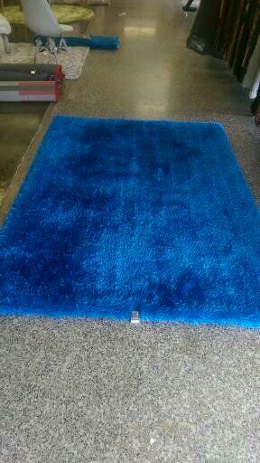 Bathford Hand Tufted Electro Blue Area Rug