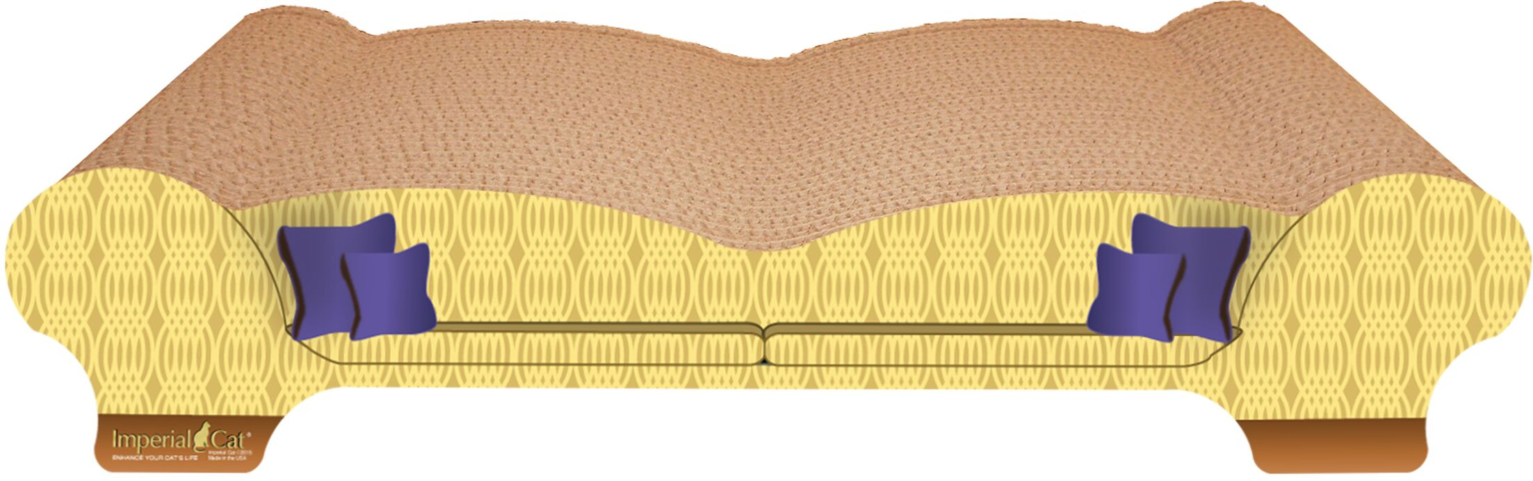 Scratch 'n Shapes Love Seat Recycled Paper Scratching Board Style: Honeycomb