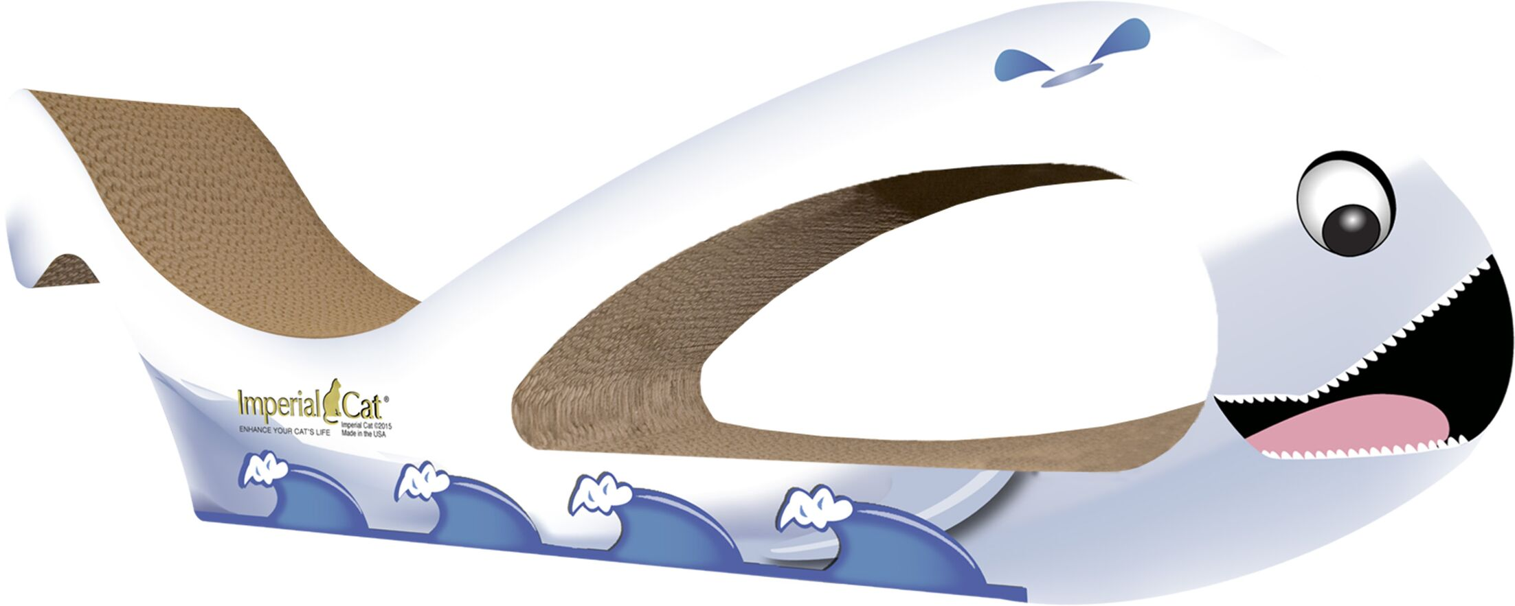 Scratch n' Shapes Giant Whale Recycled Paper Scratching Board Pattern: Beluga