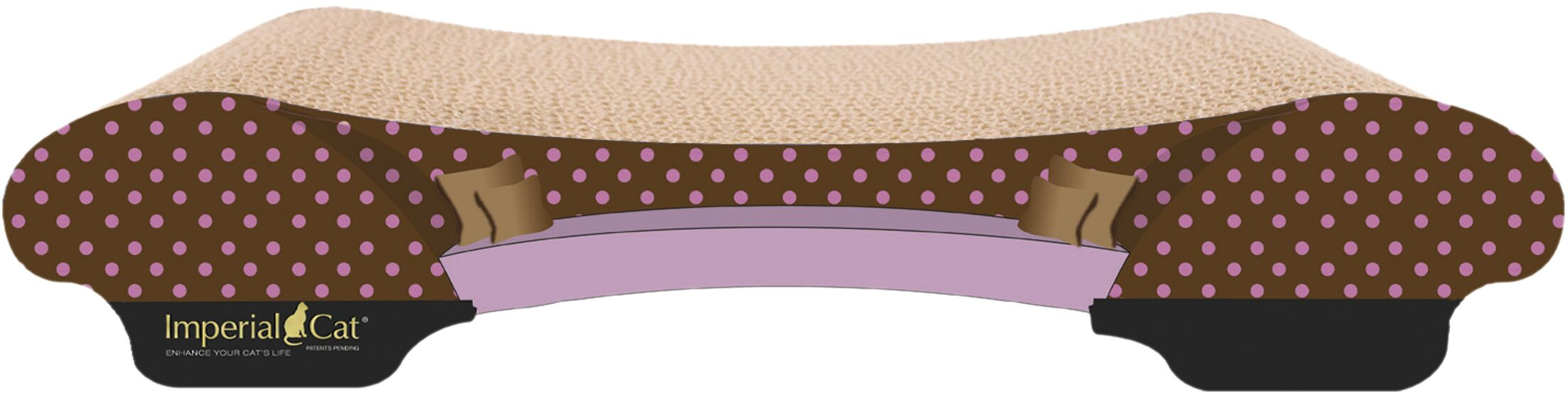 Scratch 'n Shapes Bella Sofa Recycled Paper Scratching Board Pattern: Pink Polka Dot