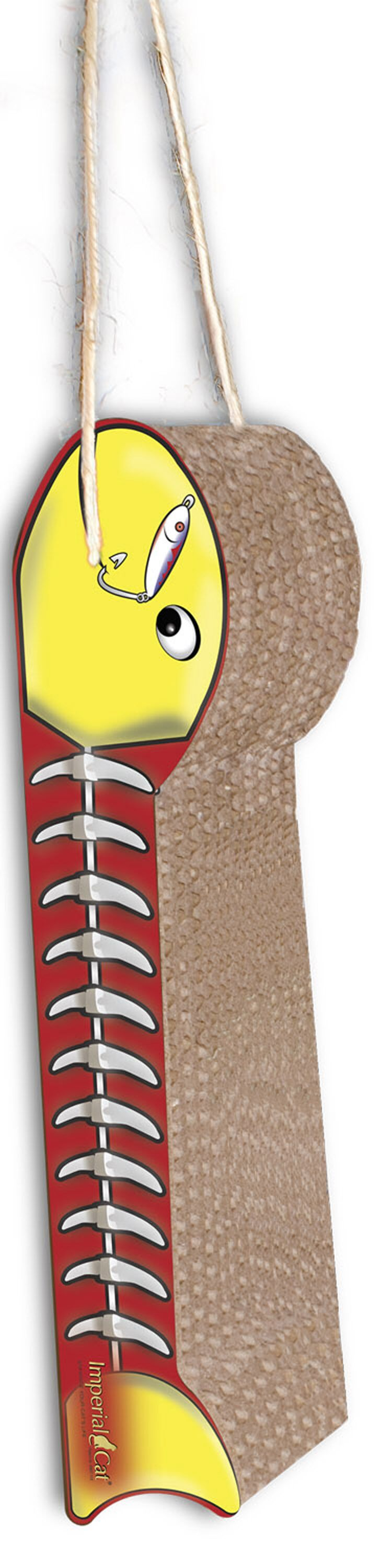 Scratch 'n Shapes Hanging Fish on a Line Recycled Paper Scratching Board Style: Yellow and Red