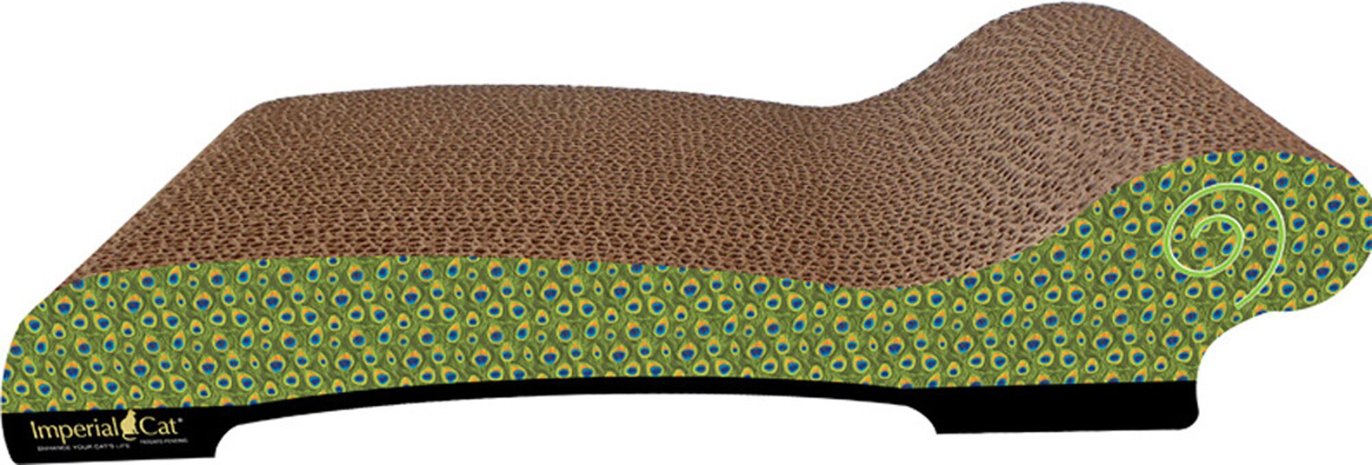 Large Chaise Lounge Recycles Paper Scratching Board Style: Cheetah