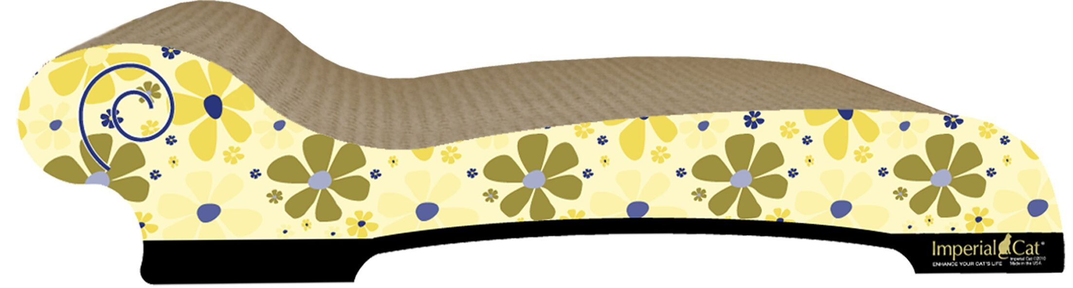 Large Chaise Lounge Recycles Paper Scratching Board Style: Retro D