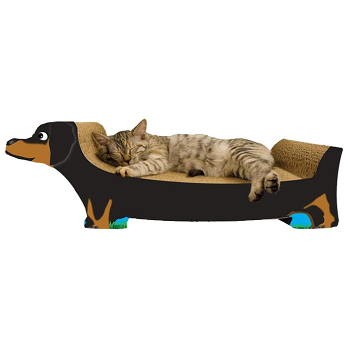 Dachshund Recycled Paper Scratching Board Color: Black
