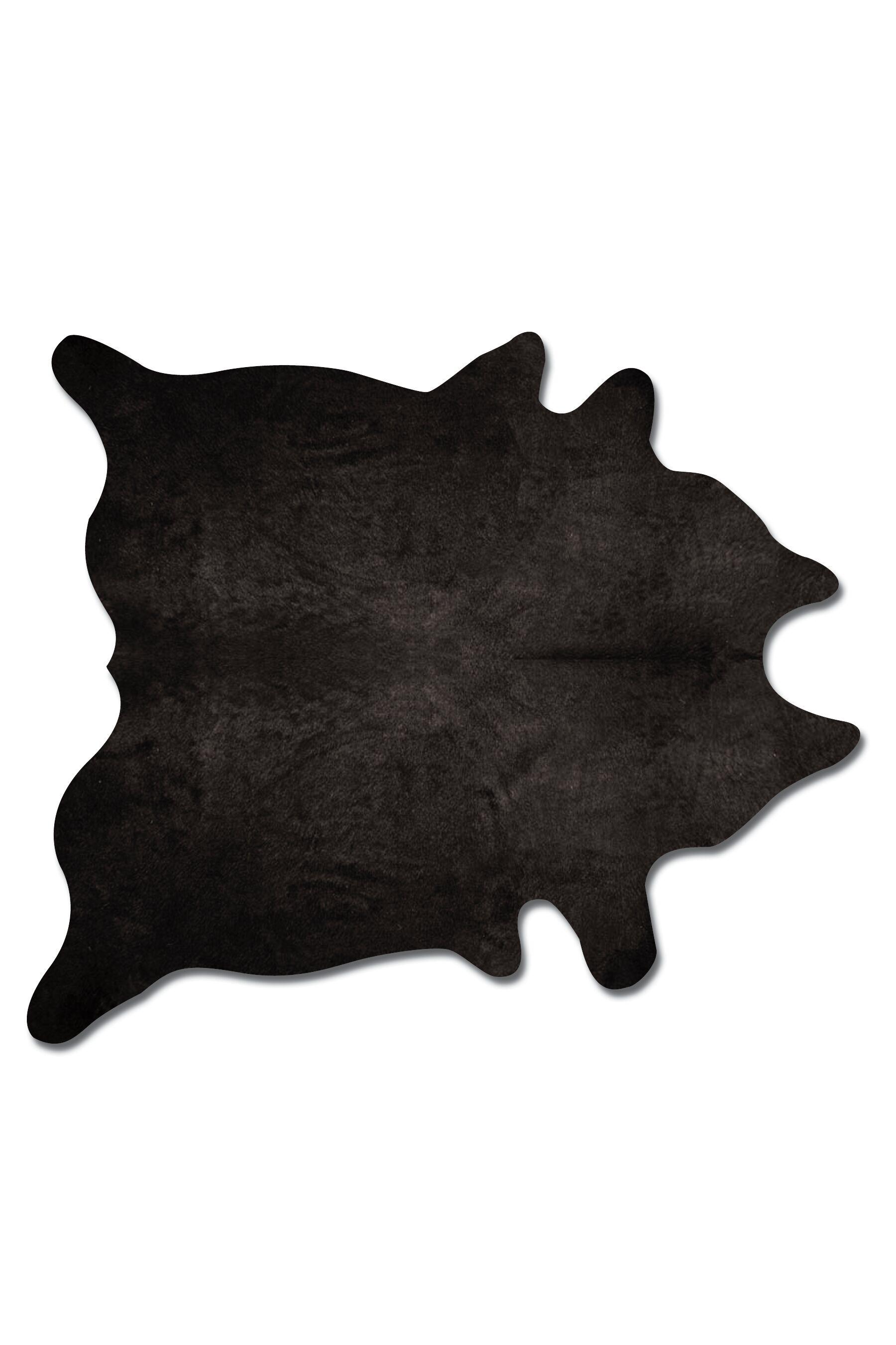Plainsboro Handmade Black Cowhide Area Rug