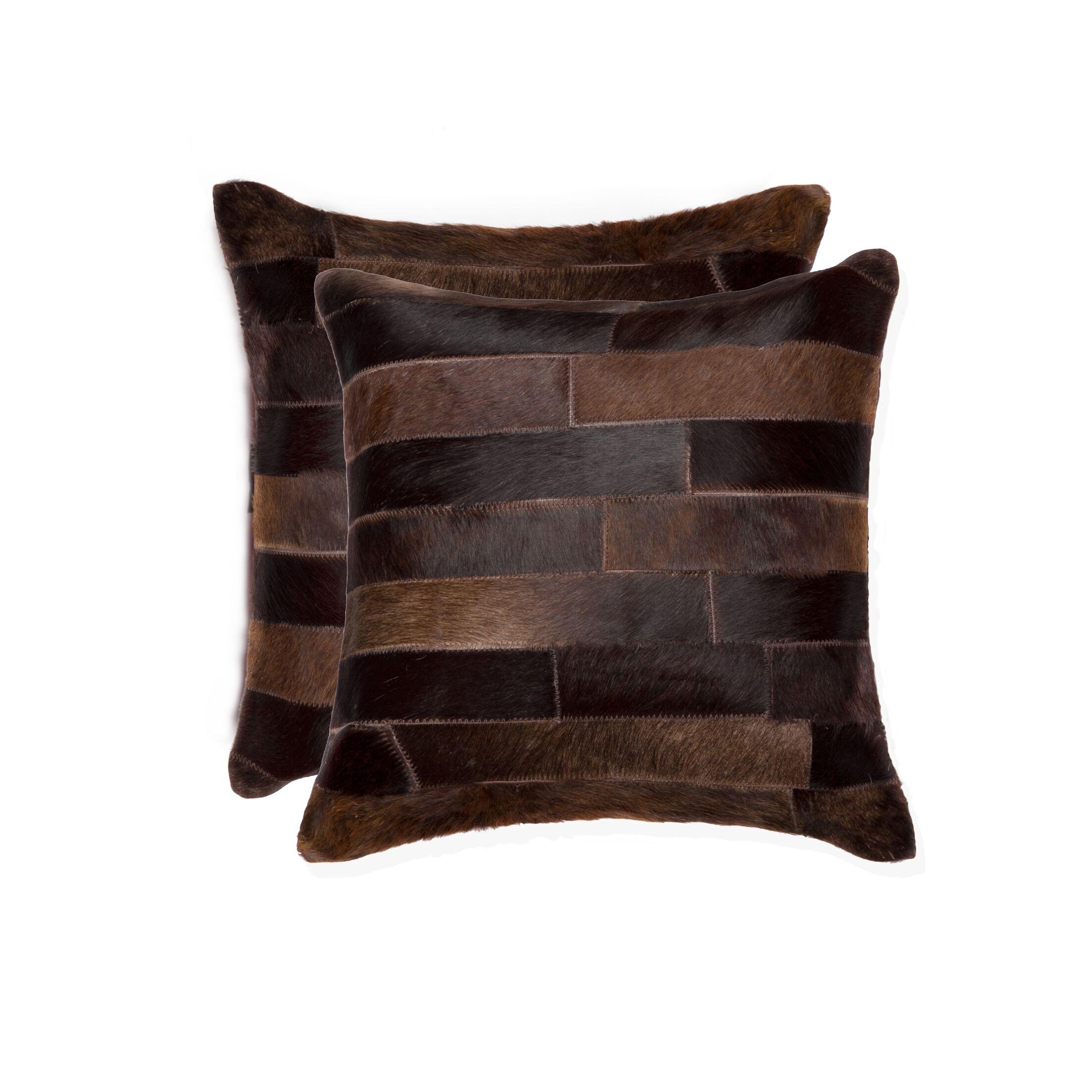 Graham Modern Leather Throw Pillow