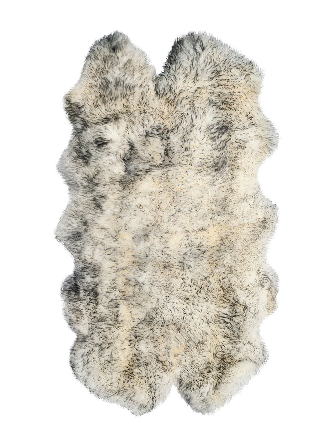 Oma Hand-Woven Sheepskin Gradient Gray Area Rug