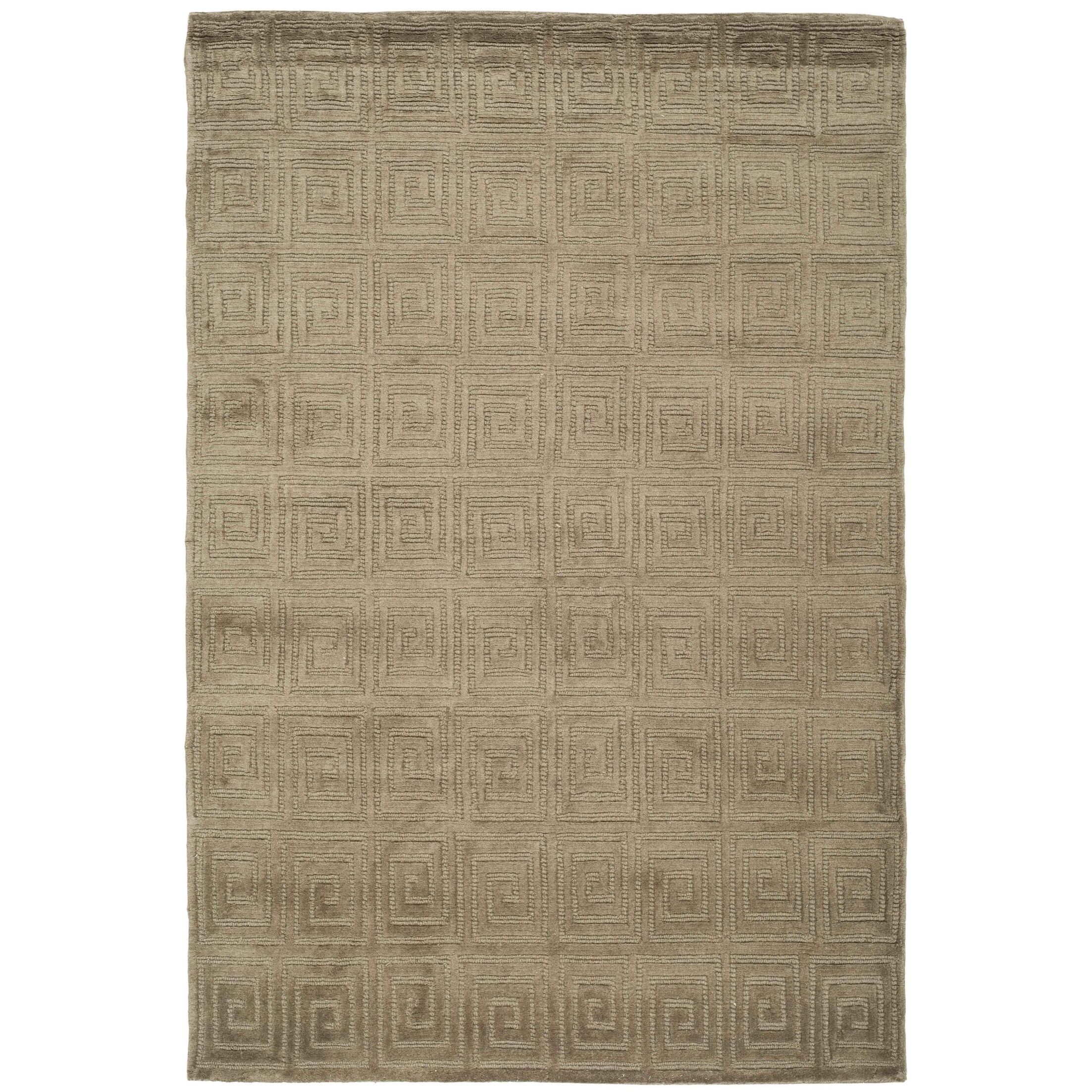Greek Key Wool Olive Area Rug Rug Size: Rectangle 5' x 7'6