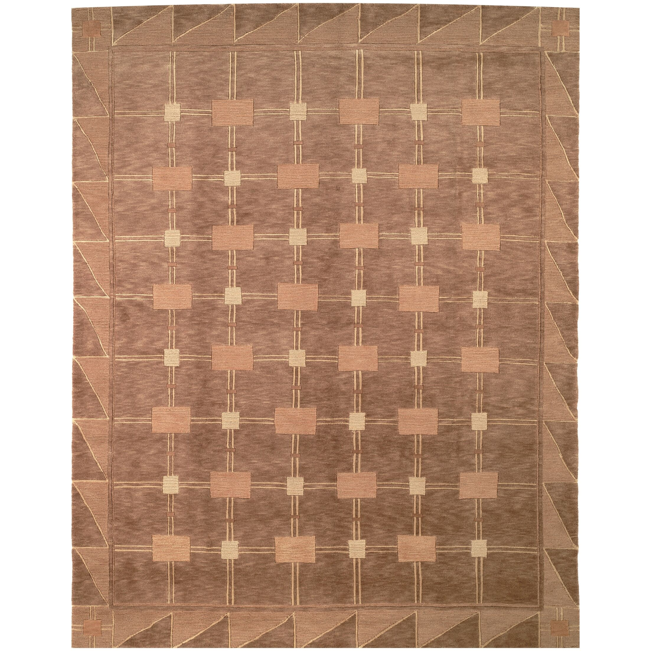 Wool Brown Area Rug Rug Size: Rectangle 5' x 7'6
