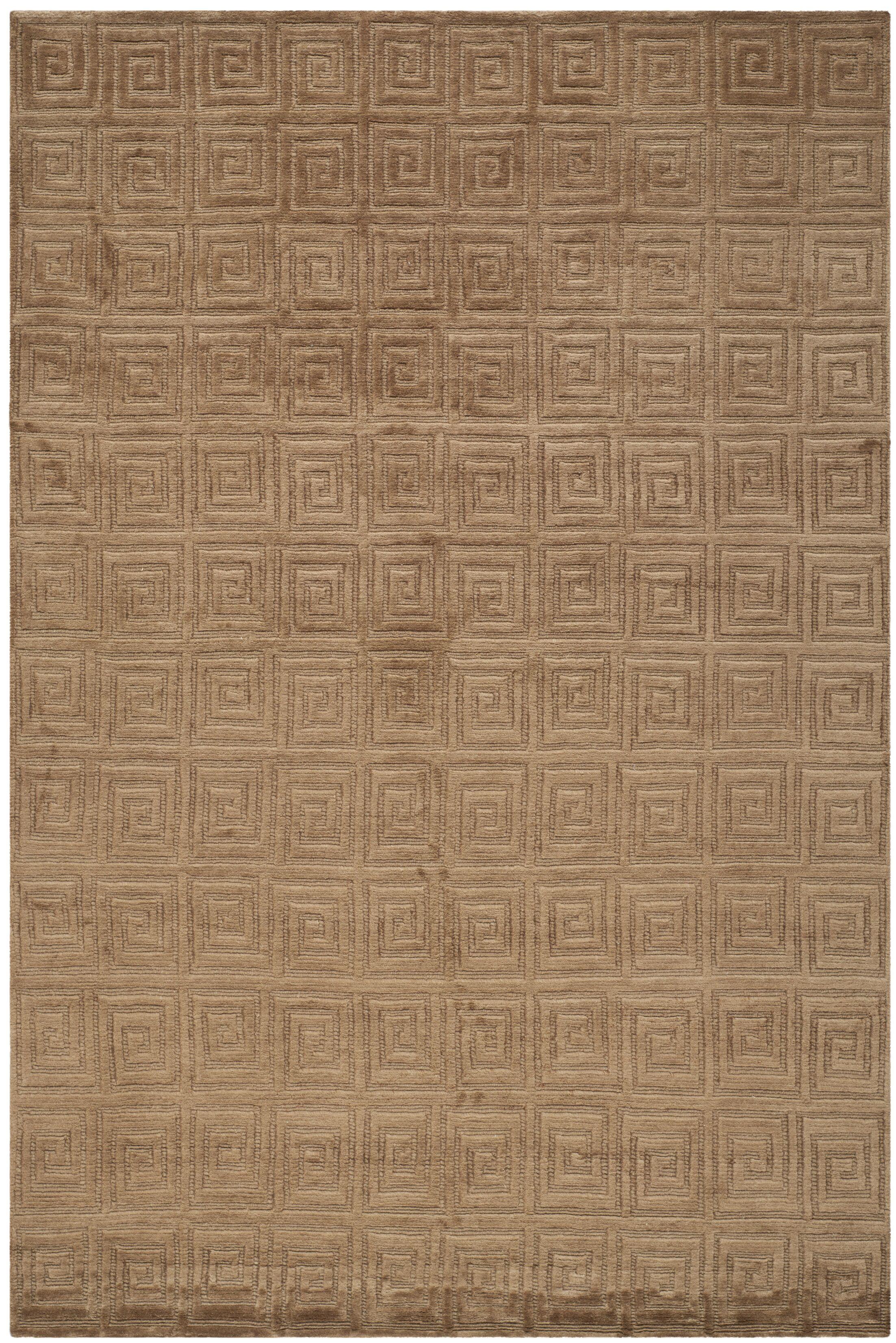 Bronze Greek Key Area Rug Rug Size: Rectangle 6' x 9'