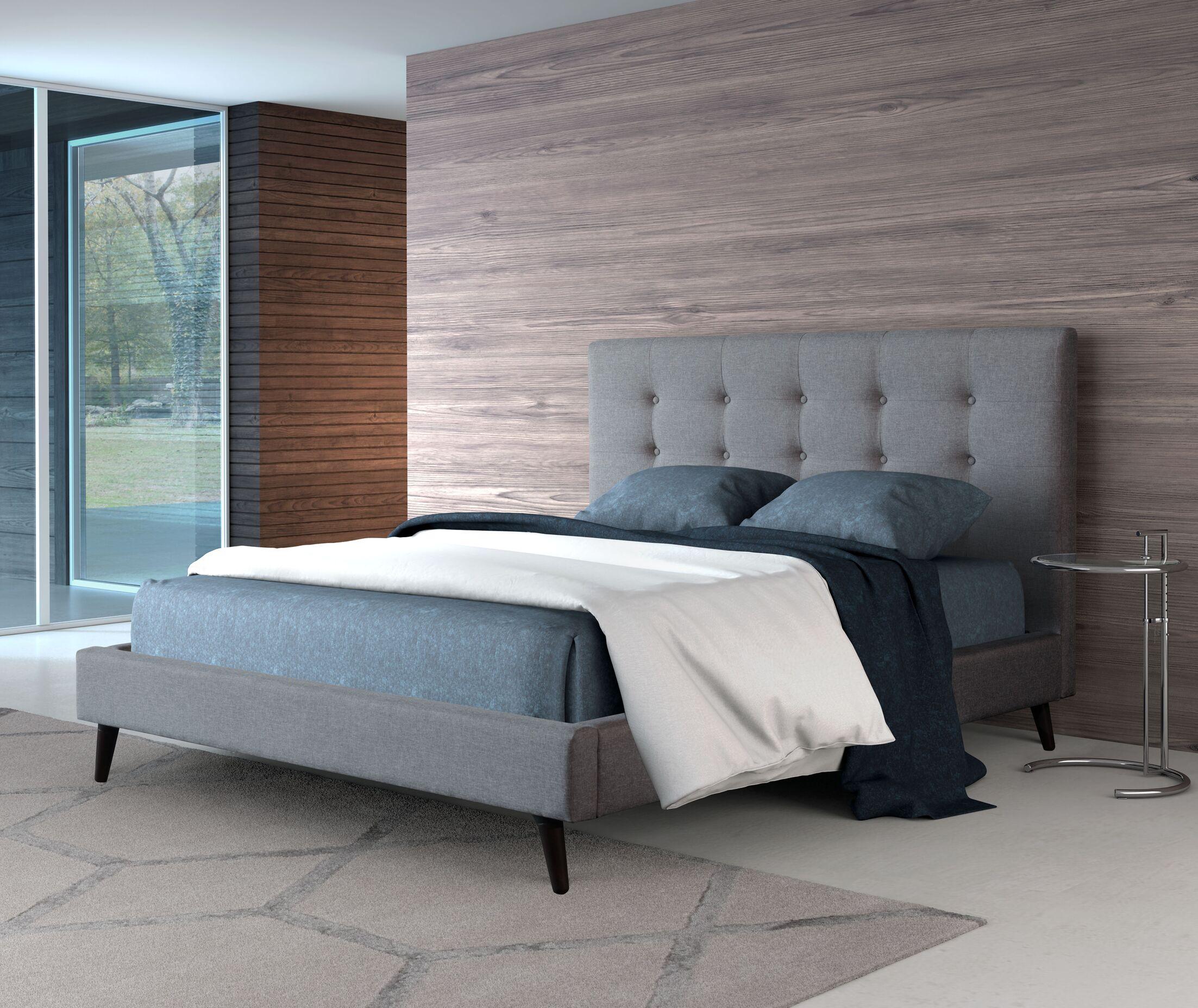 Redding Upholstered Panel Bed Size: King