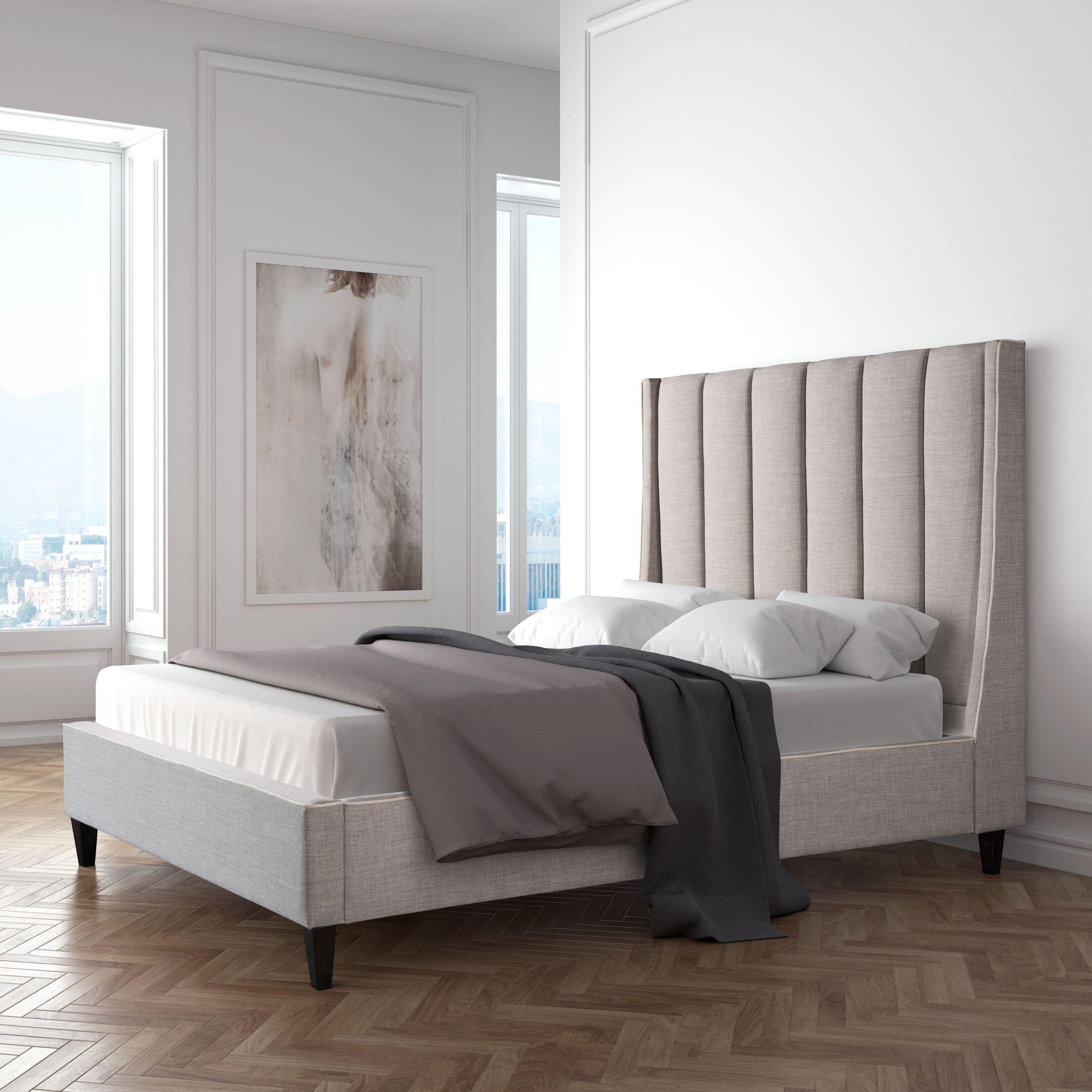 Odina Upholstered Platform Bed Size: King
