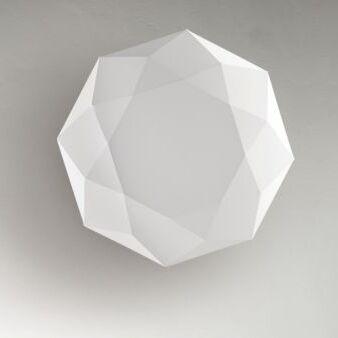 Diamond 3-Light Flush Mount Size: 8.5