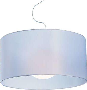 Fog 1-Light Drum Pendant Shade Color: White, Size: 19.7
