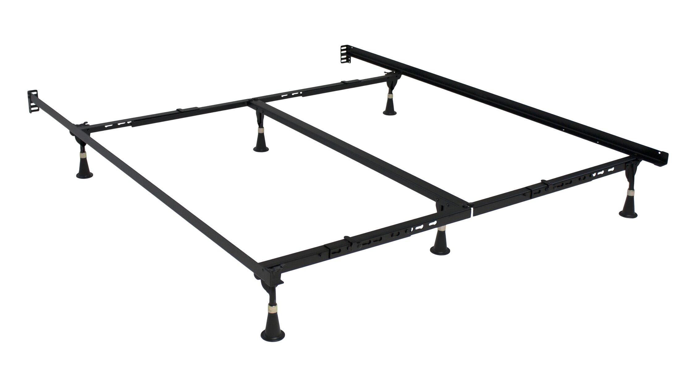 Premium Lev-R-Lock Glides Bed Frame Size: Twin/Full/Queen/King/California King