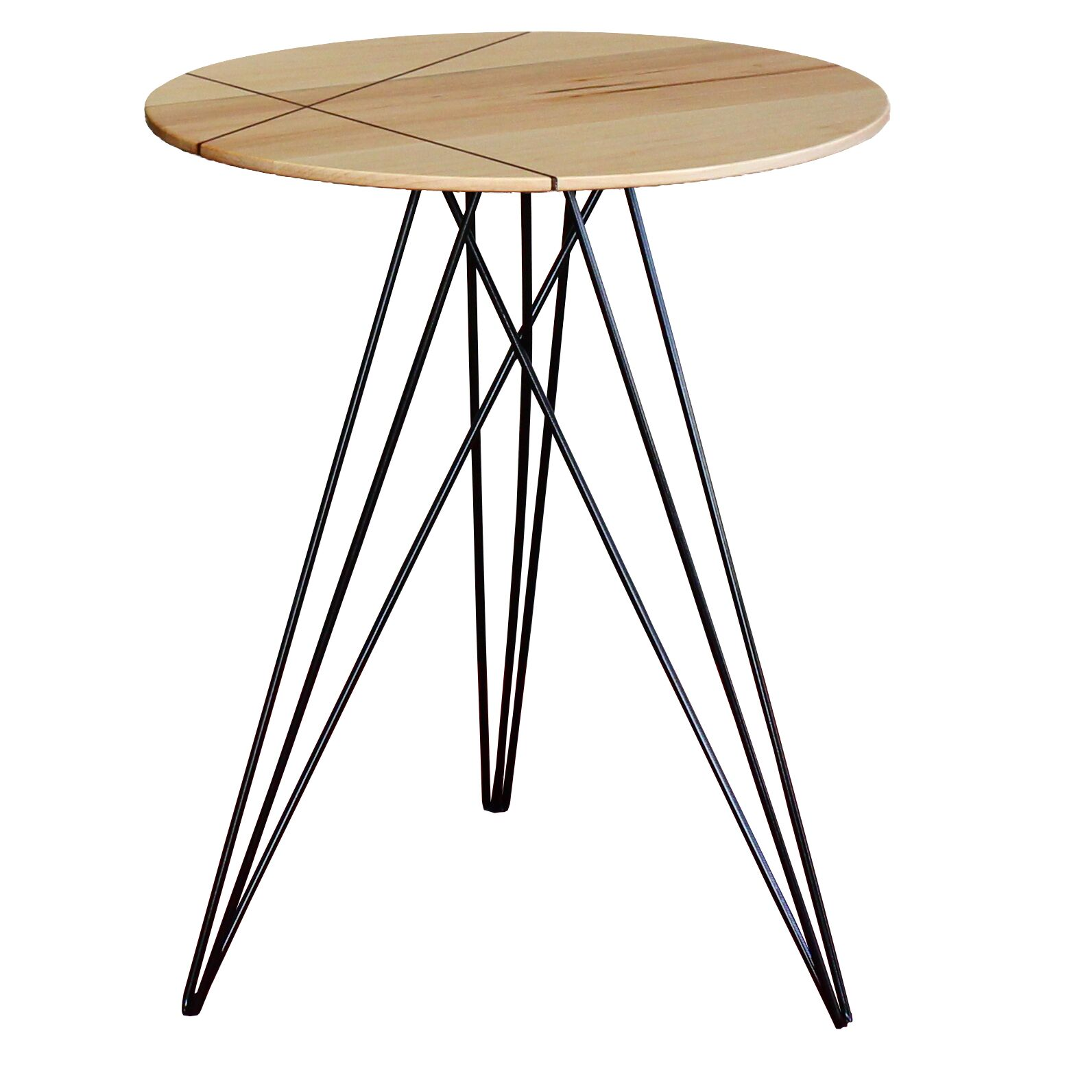 Hudson End Table Top Color: Maple, Base Color: Black