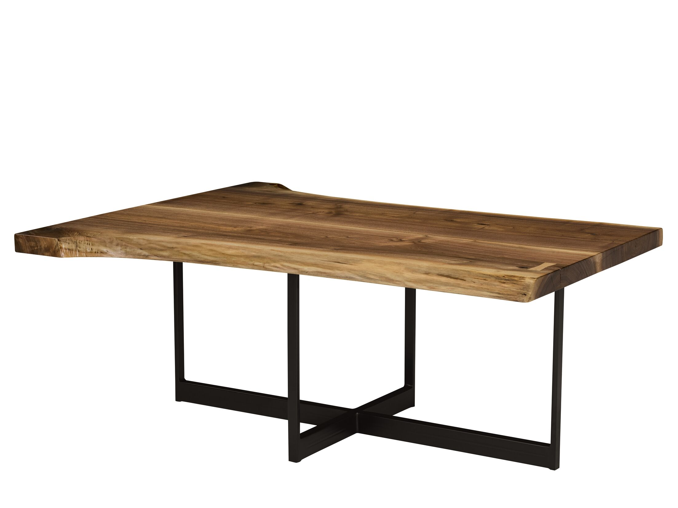 Live Edge Coffee Table Table Top Color: Acanthus