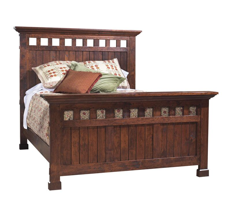 Panel Bed Size: Queen, Color: Nautilus