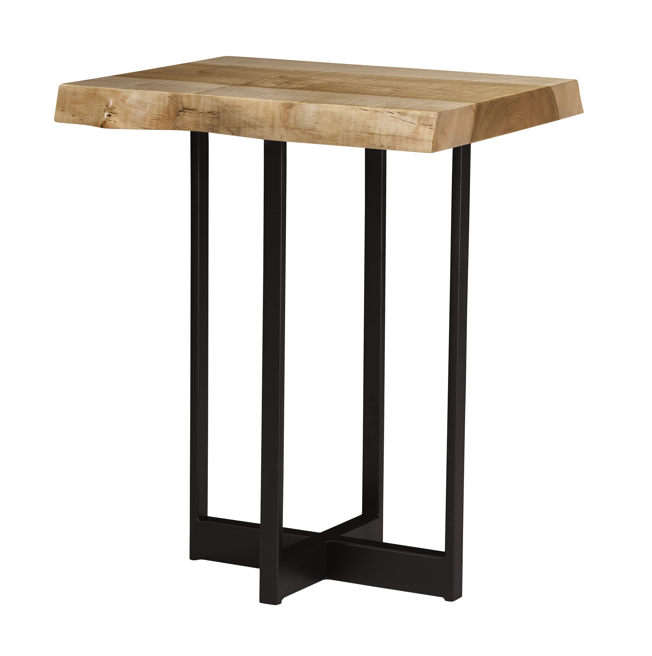 Live Edge Drinks End Table Table Top Color: Nautilus