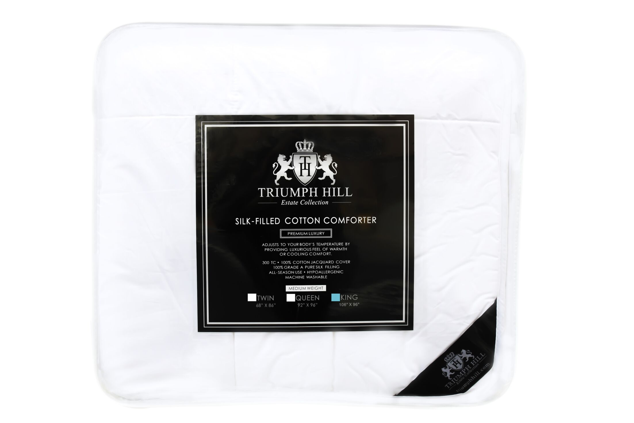 Triumph Hill Midweight Comforter Size: King