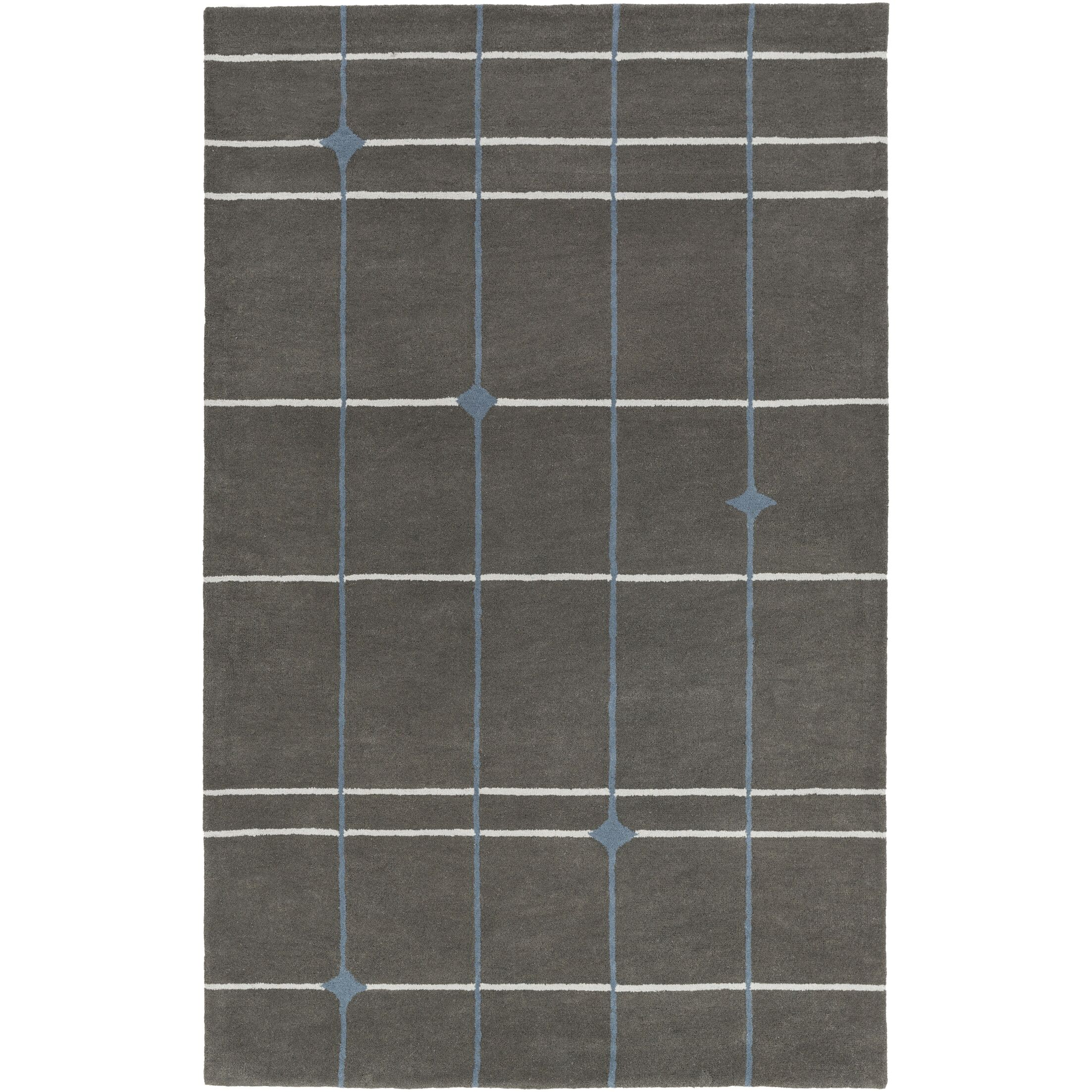 Mod Pop Hand-Tufted Gray Area Rug Rug Size: Rectangle 4' x 6'