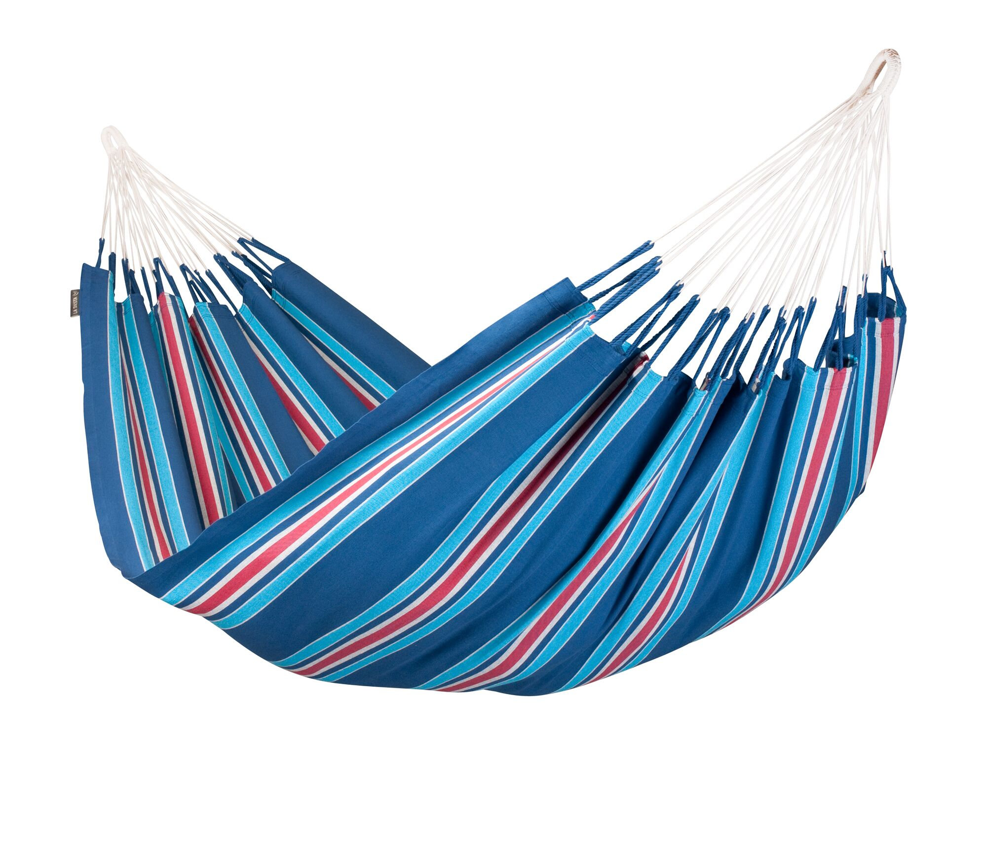 Currambera Double Cotton Tree Hammock Color: Blueberry