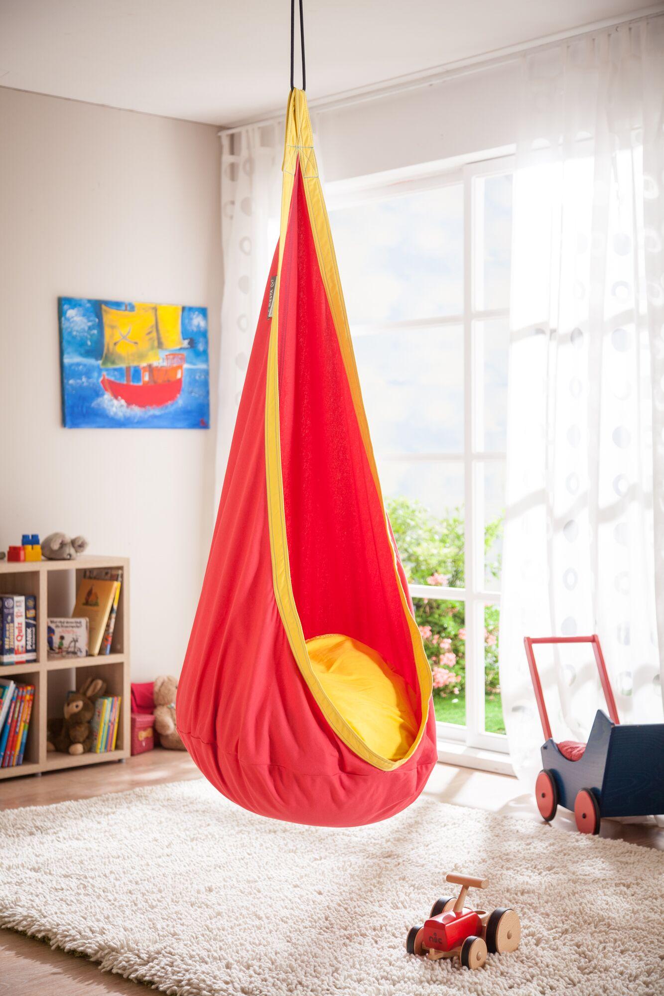 JOKI Cotton Chair Hammock Color: Cherry
