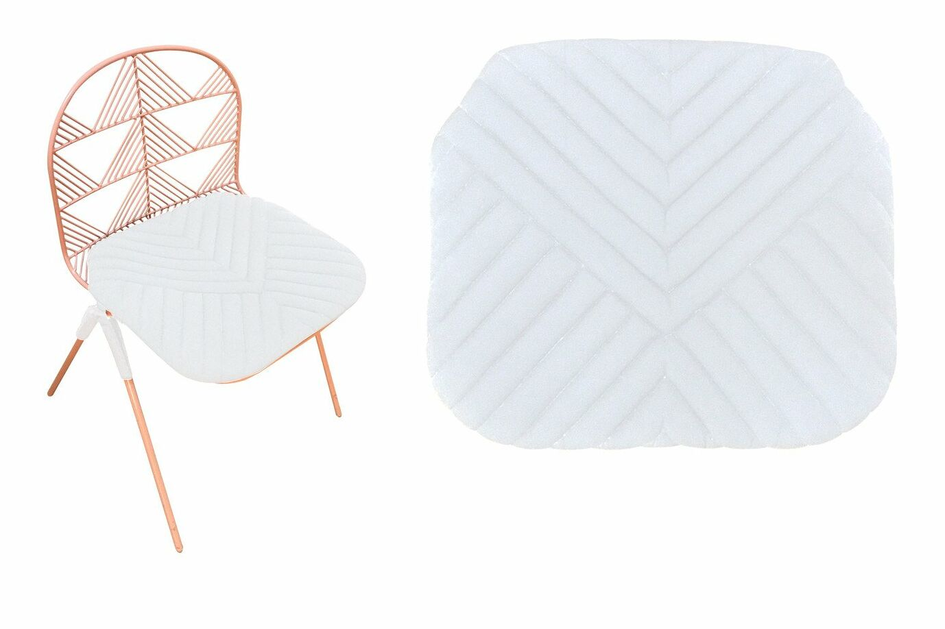 Betty Stacking Sunbrella Dining Chair Cushion (Set of 2) Fabric: White