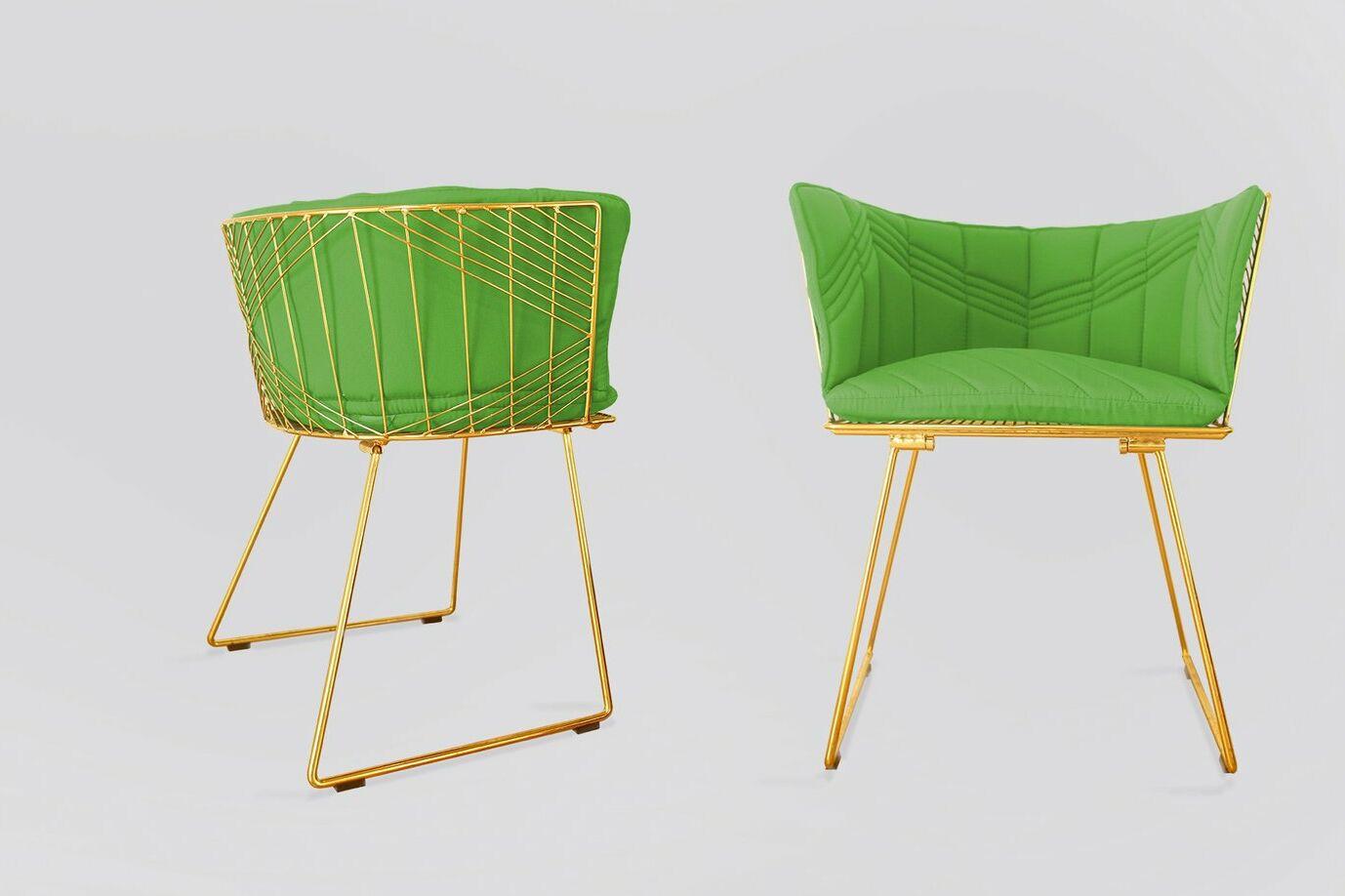 Captain Indoor/Outdoor Sunbrella Dining Chair Cushion Fabric: Macaw