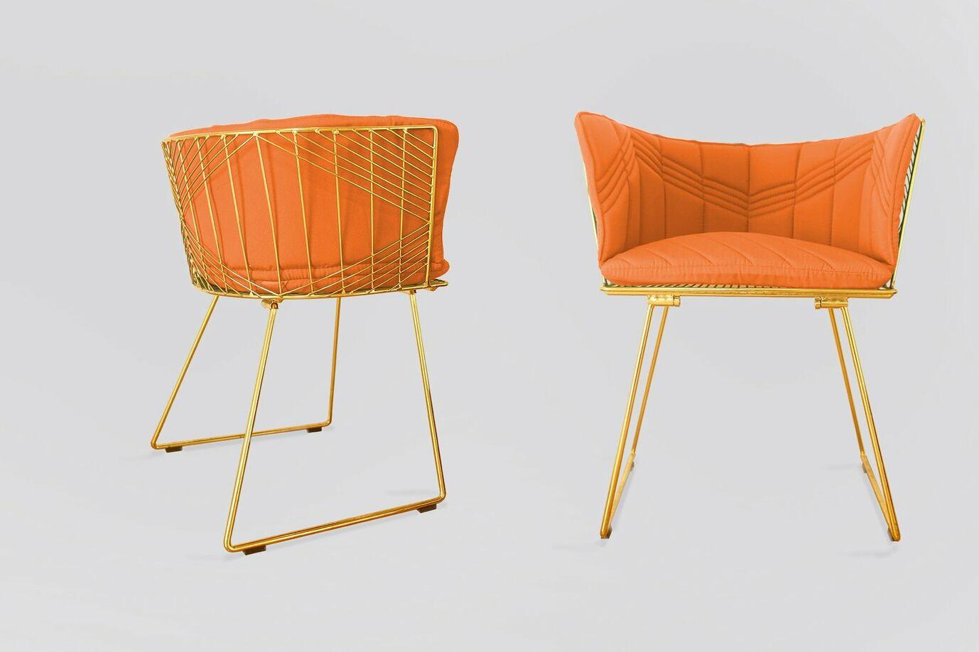 Captain Indoor/Outdoor Sunbrella Dining Chair Cushion Fabric: Melon