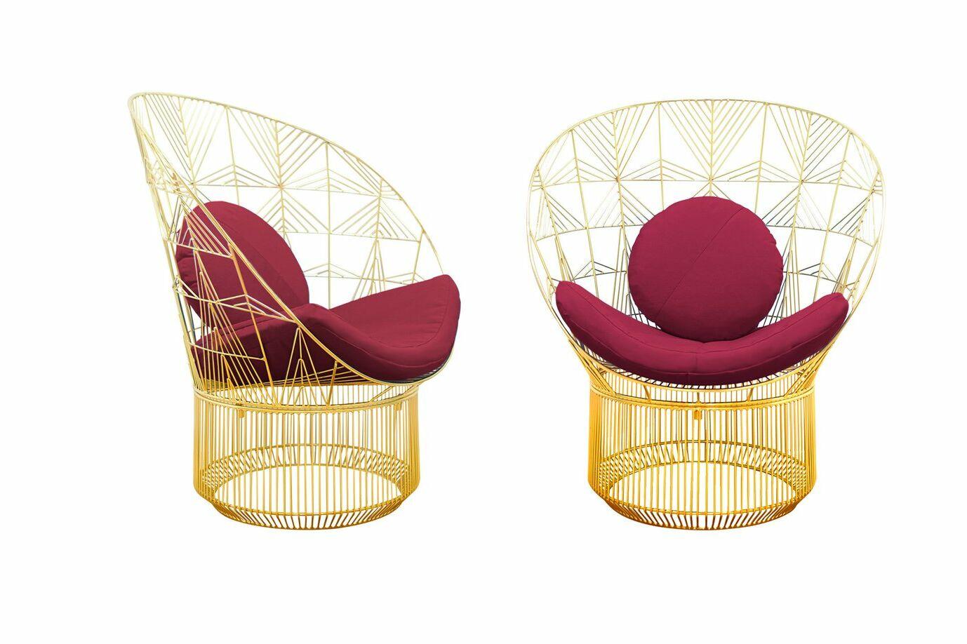 Peacock Sunbrella Lounge Chair Cushion Fabric: Burgundy