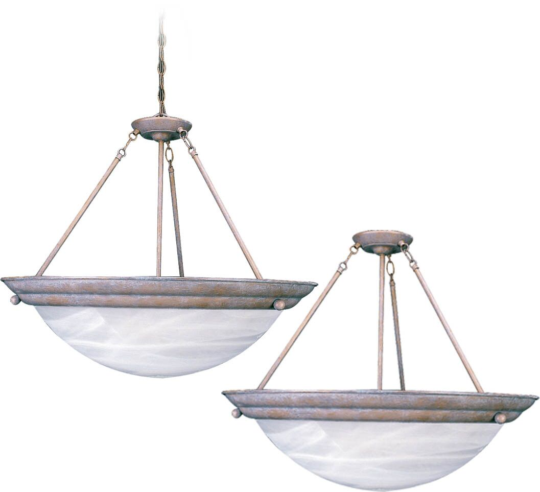 Lunar 4-Light Semi Flush Mount Fixture Finish: Prairie Rock, Bulb Type: Compact fluorescent (CFL)