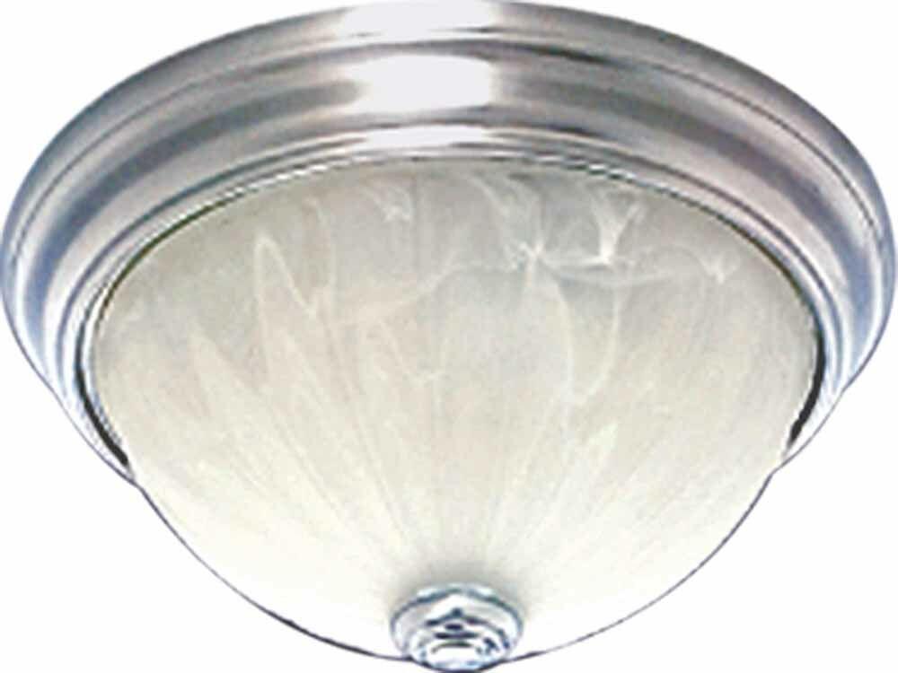 Minster 2-Light Ceiling Fixture Flush Mount Finish: Brushed Nickel
