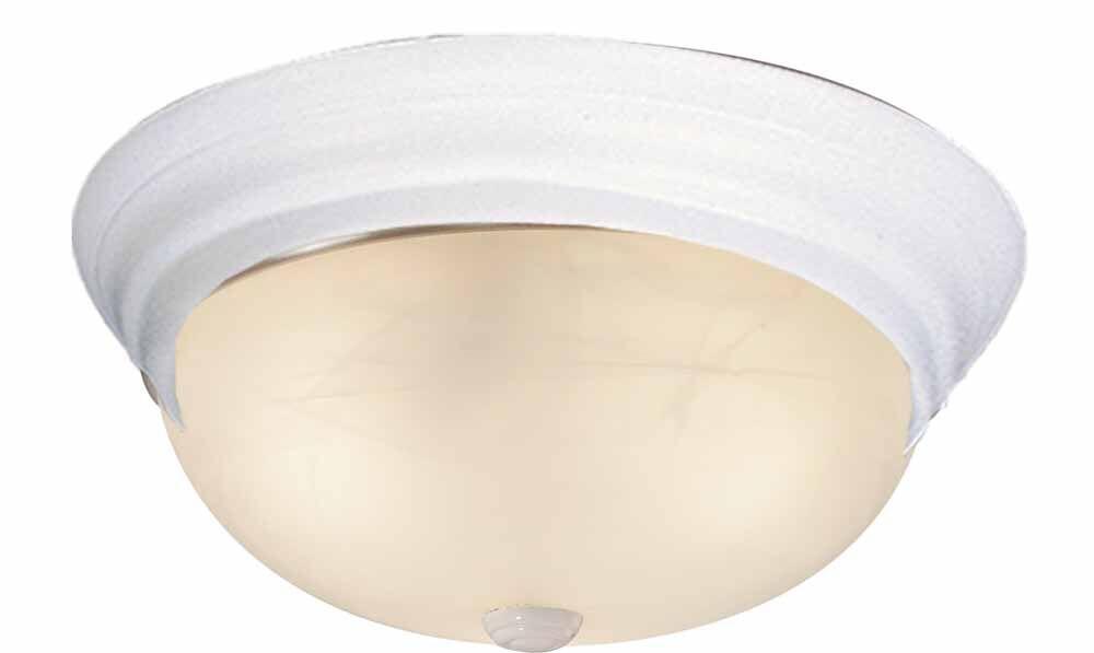 1-Light Ceiling Fixture Flush Mount Finish: White