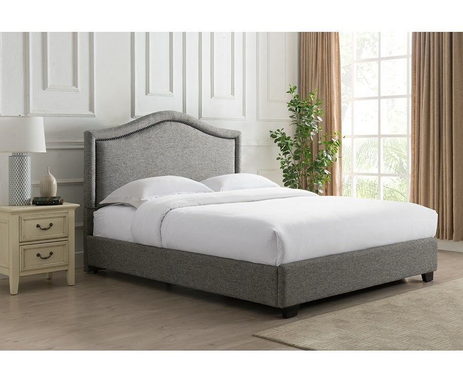 Mellen Upholstered Platform Bed Color: Charcoal, Size: King