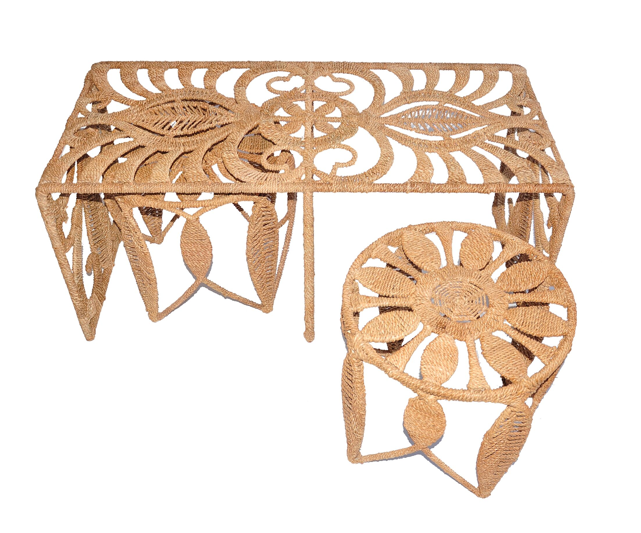 Rope Charlotte 3 Piece Nesting Table