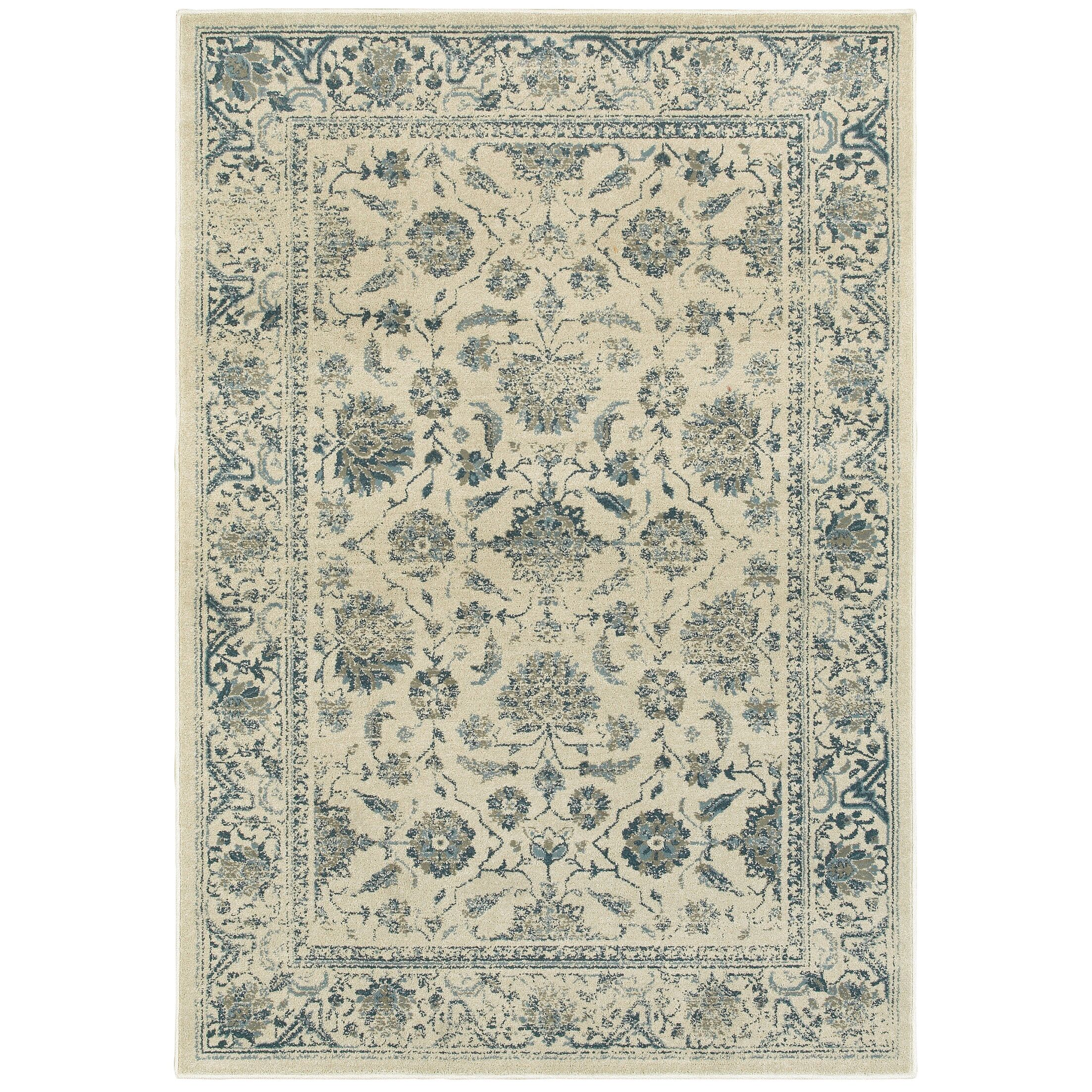 Lambeth Faded Garden Ivory Area Rug Rug Size: Rectangle 9'10