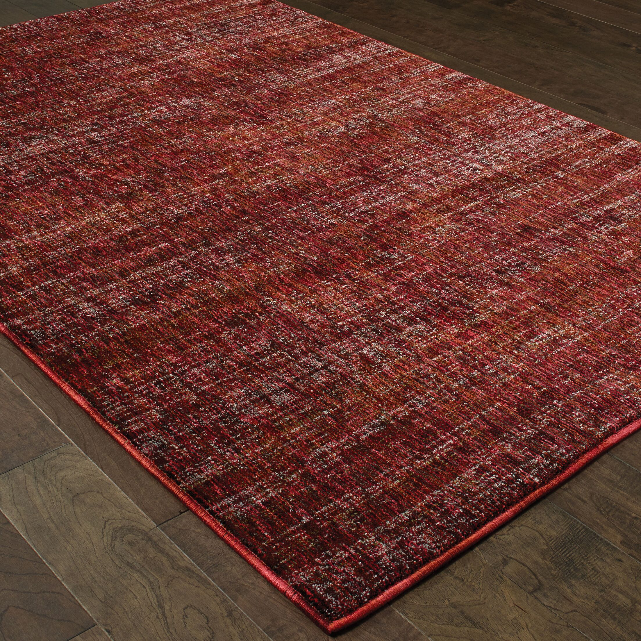 Bobby Red Area Rug Rug Size: Rectangle 7'10