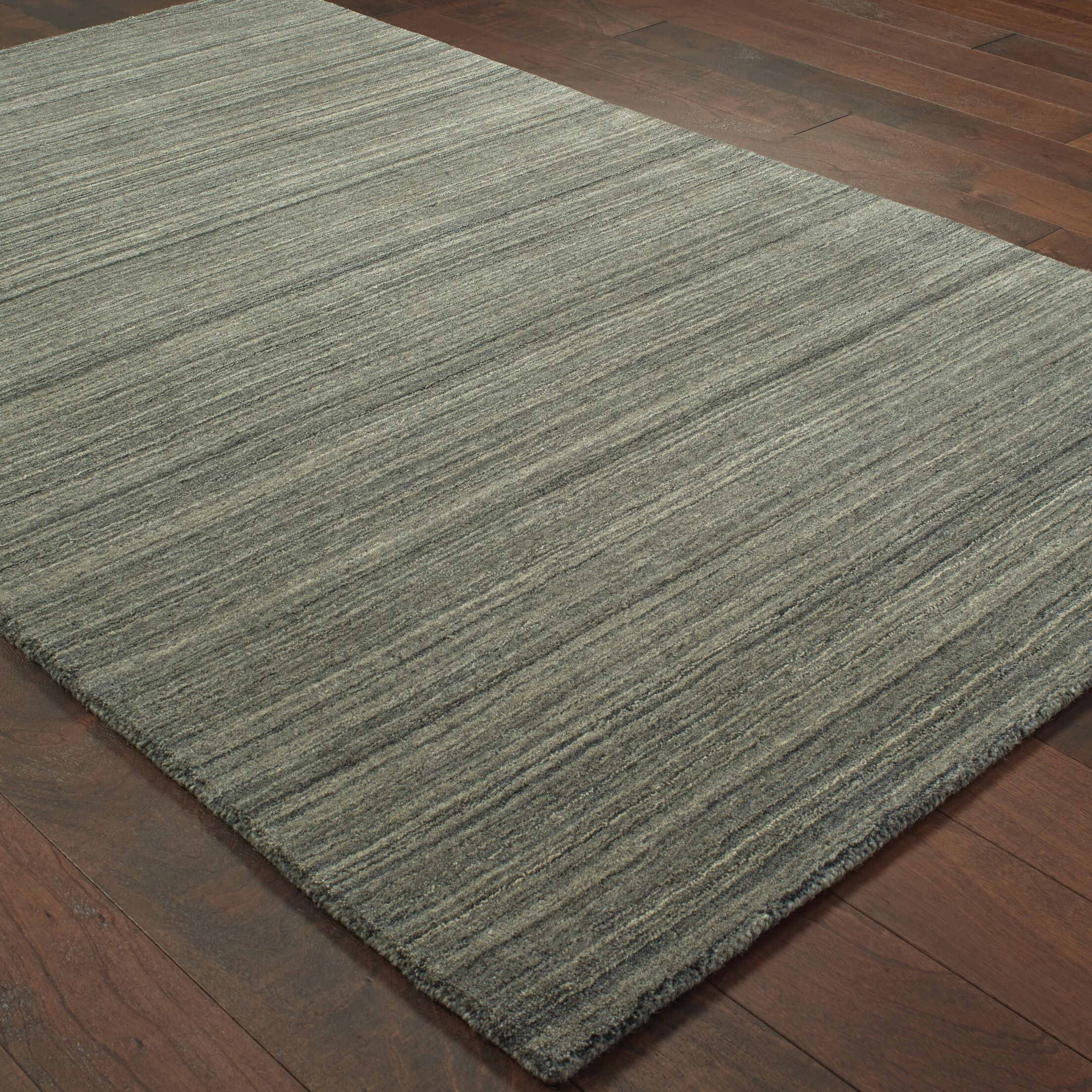 Alanna Hand-Tufted Wool Charcoal Area Rug Rug Size: Rectangle 3'6