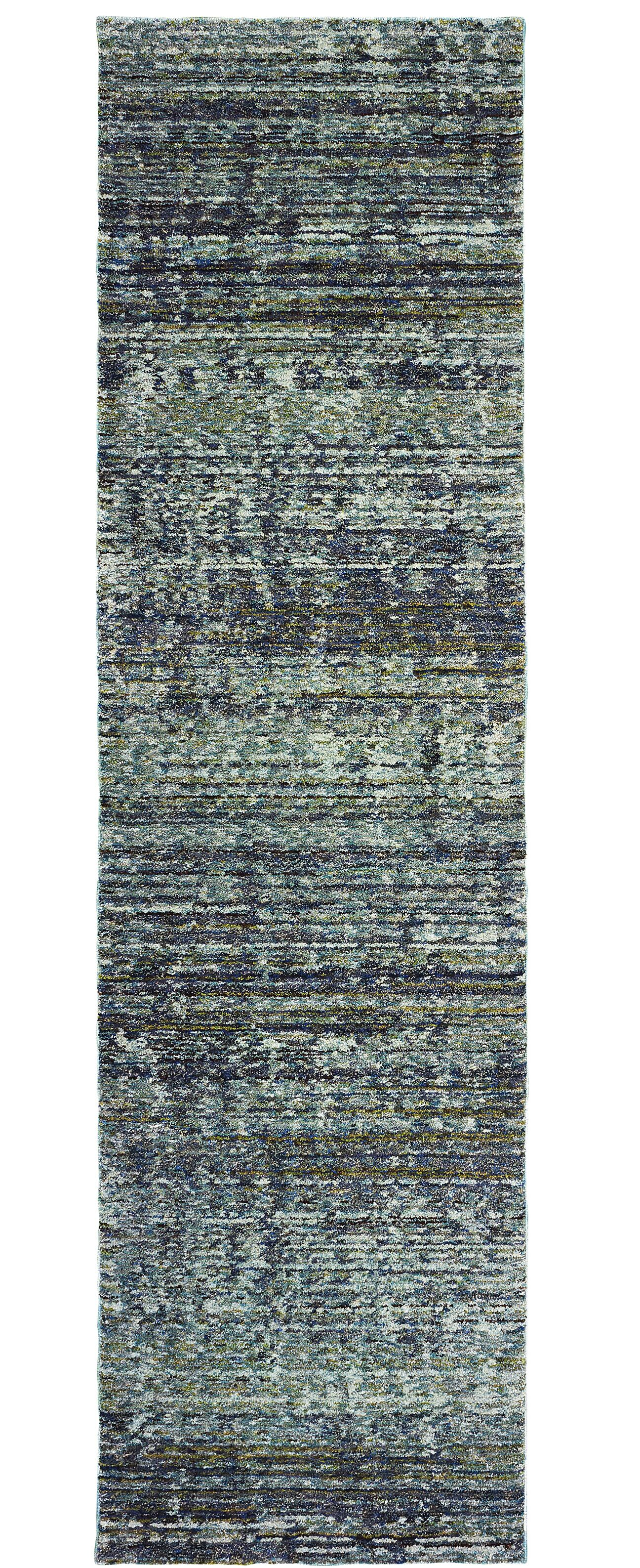 Bobby Blue/Gray Area Rug Rug Size: Runner 2'3