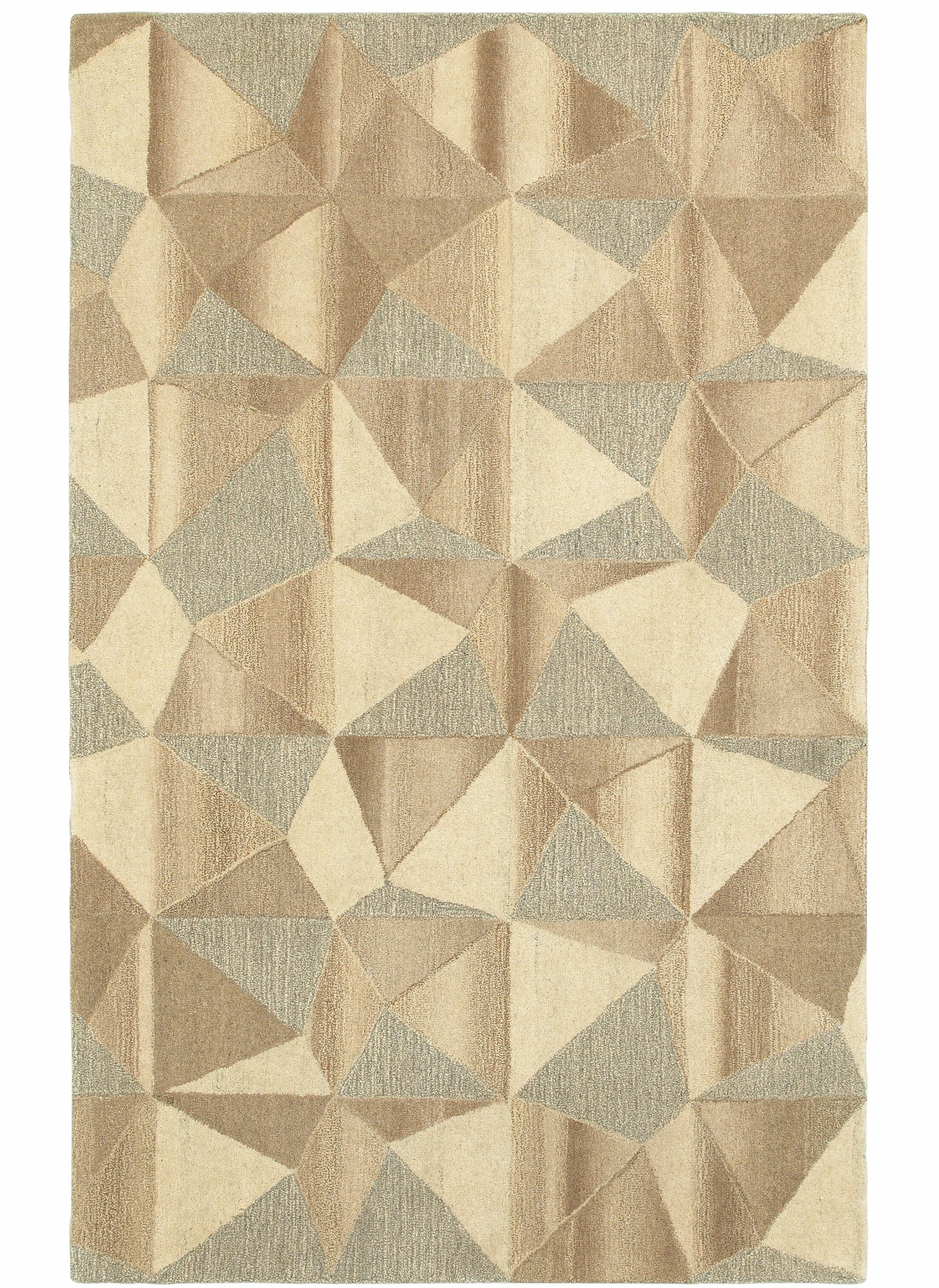 Frank Hand-Tufted Wool Beige Area Rug Rug Size: Rectangle 3'6